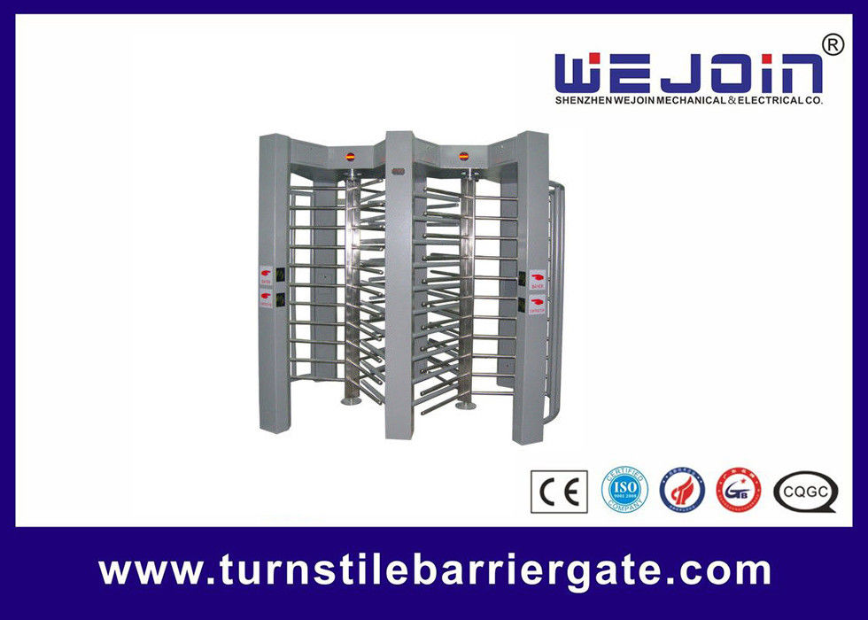 double routeway  stainless turnstile gates , full height turnstile ,  office building gate security gates , manufacture fornitore