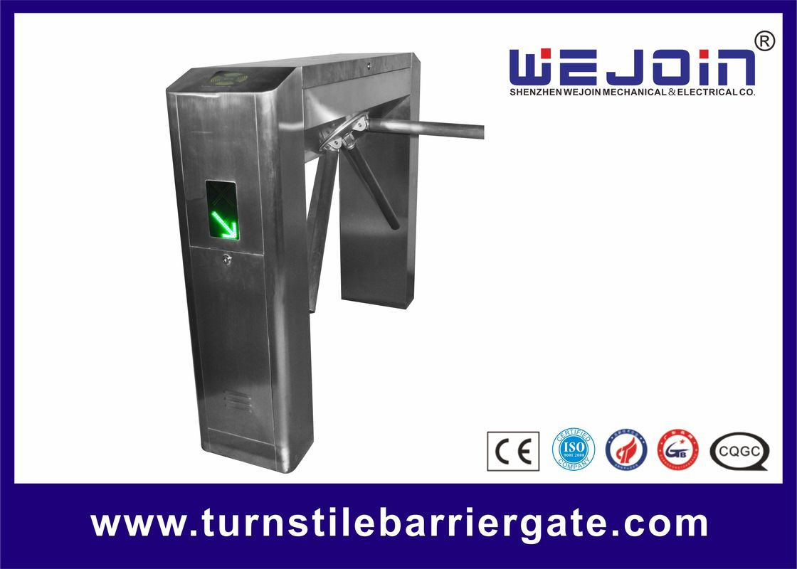 Pedestrian Tripod Access Control System , Turnstile Gate With Card Reader Automatic