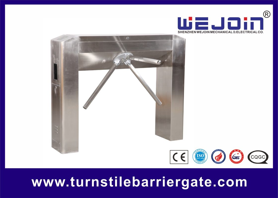 RFID Access Control Tripod Turnstile Gate DC12V 25-32 Persons / Min Transit Speed