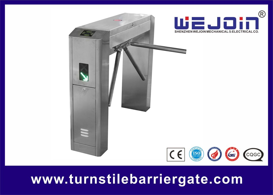 Access Control Pedestrian Security Gate Tripod Fingerprint Turnstile For Factory Entrance