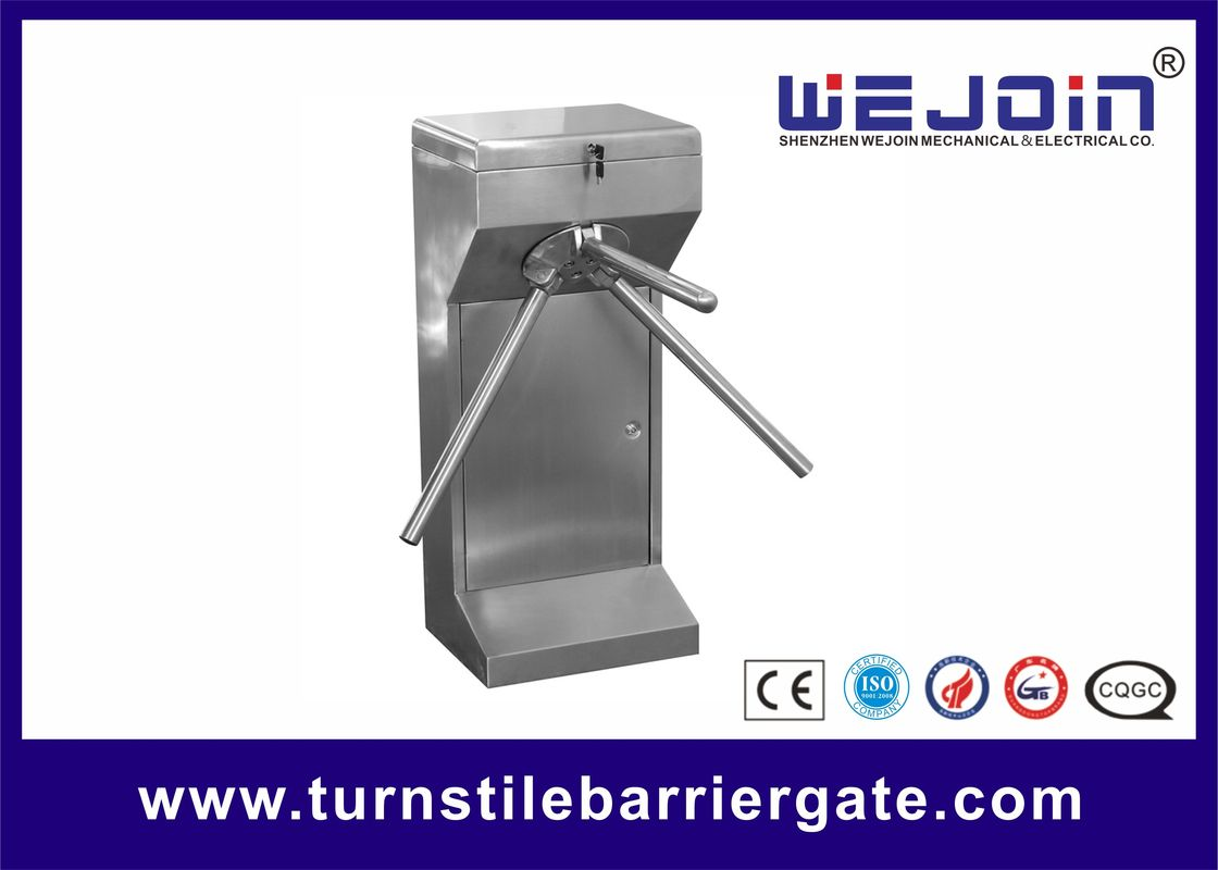 Automatic Mechanical Tripod Turnstile Gate Vertical Electric Manual Type DC 12V