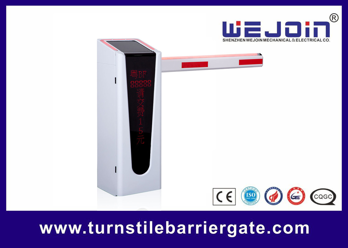 Intelligent Parking Lot Gate Control Systems LED Boom Barrier Aluminum Alloy Motor