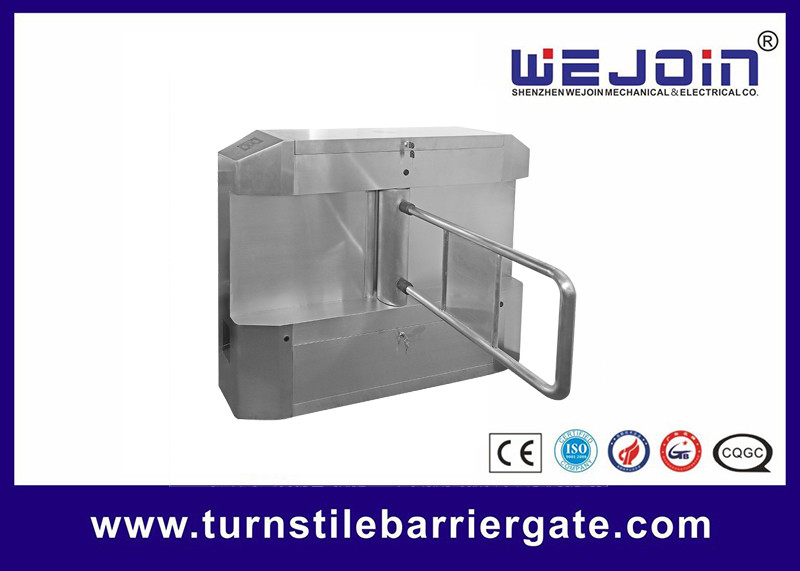 Acrylic plate Arm Turnstile Entry Swing Barrier Gate Systems With Dry Contact Interface fornitore